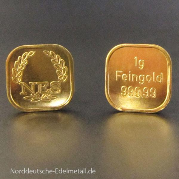 Goldbarren 1g Super Feingold 99999 Norddeutsche ES Goldbarren 1g Super Feingold 99999 Norddeutsche ES