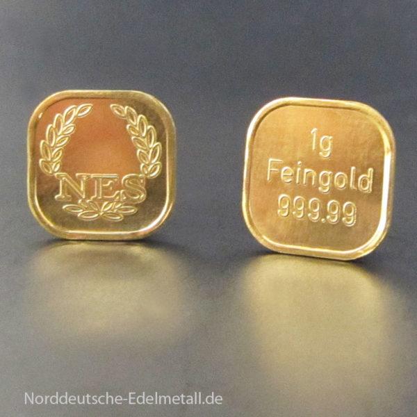 Goldbarren 1g Super Feingold 99999 Norddeutsche ES