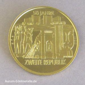 Österreich 1000 Schilling 50 Jahre Zweite Republik 1995