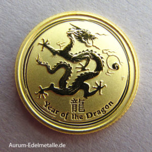 Australien 1_10 oz Lunar II Year of the Dragon Gold