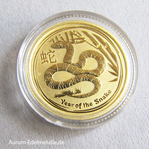 Australien 1_10 oz Lunar II Year of the Snake Gold