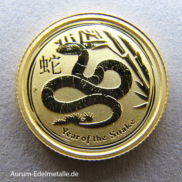 Australien 1_20 oz Lunar II Year of the Snake Gold