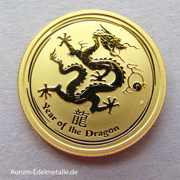 Australien 1_4 oz Gold 9999 Year of the Dragon Lunar II
