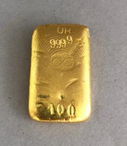 Buggenhout 100g Goldbarren 999,9