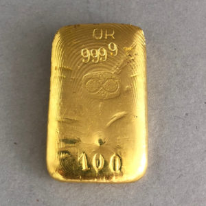 Buggenhout 100g Goldbarren 9999