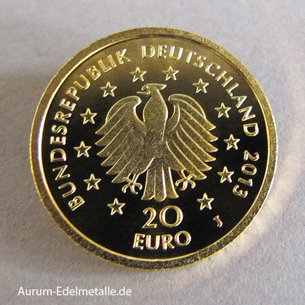 20 Euro Goldmünze Deutscher Wald Kiefer 2013