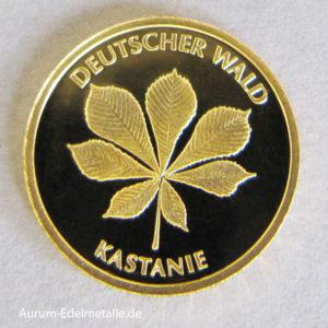 20 Euro Goldmünze Deutscher Wald Kastanie 2014