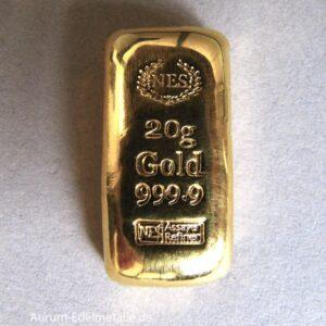 20g-Goldbarren-9999-Norddeutsche-ES-gegossen