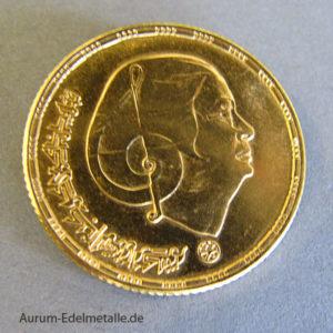 Ägypten 1 Pound Goldgedenkmünze Oum Kalthoum 1976