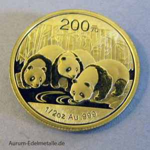 China Panda 2013 Goldmünze 1_2 oz 200 Yuan