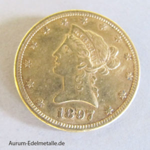 USA 10 Dollars Gold Eagle Liberty Head 1897