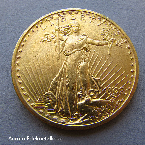 USA 20 Dollars Gold St. Gaudens Double Eagle 1907-1933