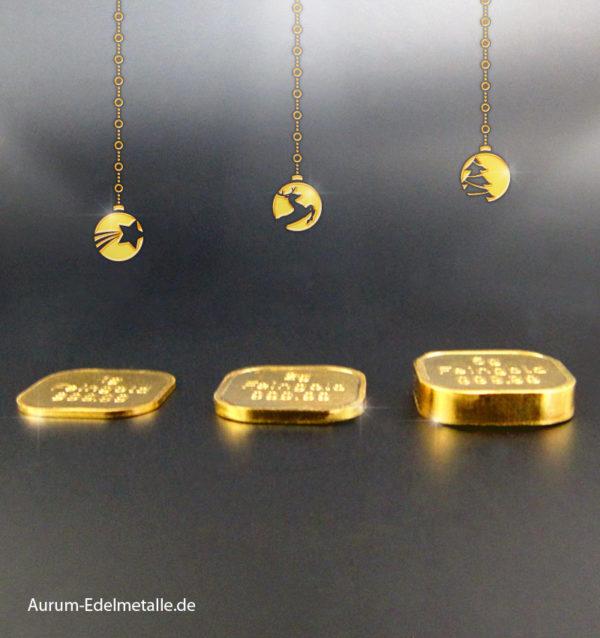 8g Goldbarren Superfeingold Weihnachtsbarren Norddeutsche ES