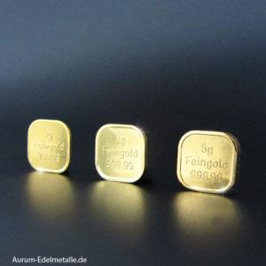 Kleine Goldbarren