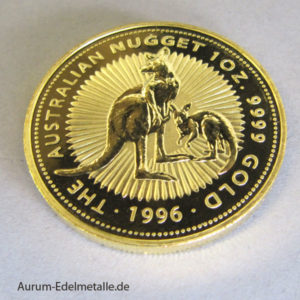 Australien Nugget Kangaroo 1996 Gold 1 oz 100 Dollars