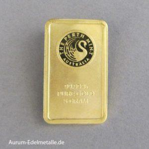 Goldbarren 5 Gramm Kangaroo Minted Australien