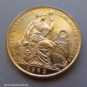 Peru 100 Soles Goldmünze 1962
