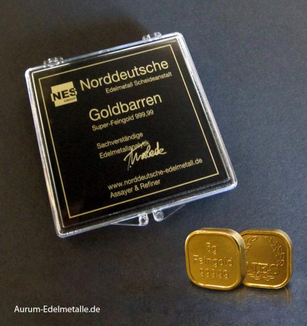 125 Gramm Tafelgold 5g Barren Superfeingold 99999
