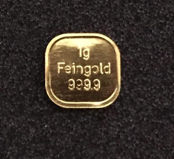 1g Goldbarren 9999