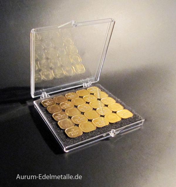 25g Tafelgold 1g Barren Feingold 9999