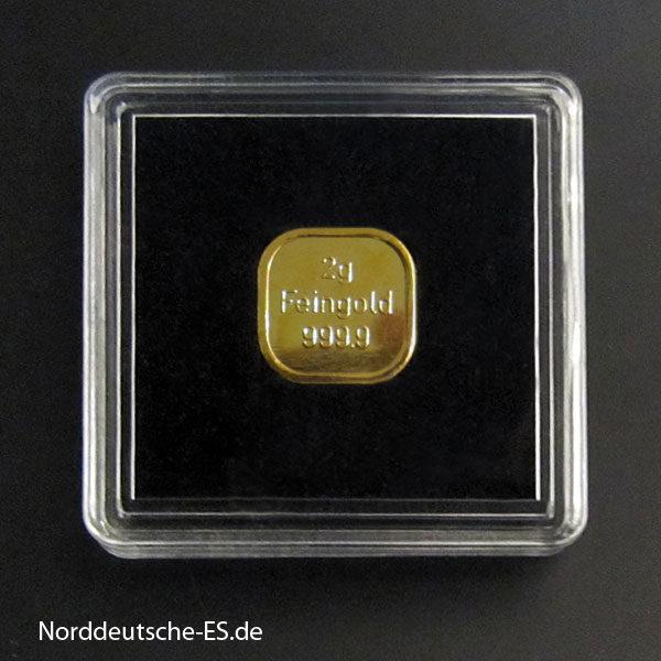 2g Goldbarren Feingold 9999