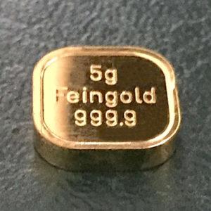 5g Goldbarren Feingold 9999 NES 9999