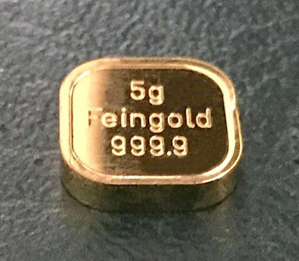 Goldtafel kaufen 5g Goldbarren Feingold 9999 NES 9999