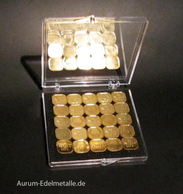 50g Tafelgold 2g Barren Feingold 9999 Norddeutsche ES