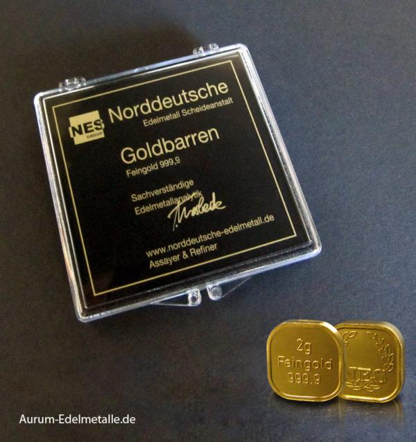 50g Tafelgold 2g Barren Feingold 9999 NES