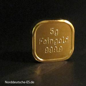 5g Goldbarren Feingold 999.9 Norddeutsche ES