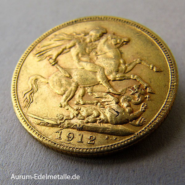 England One Pound Sovereign George V Gold 1911-1931 Australien