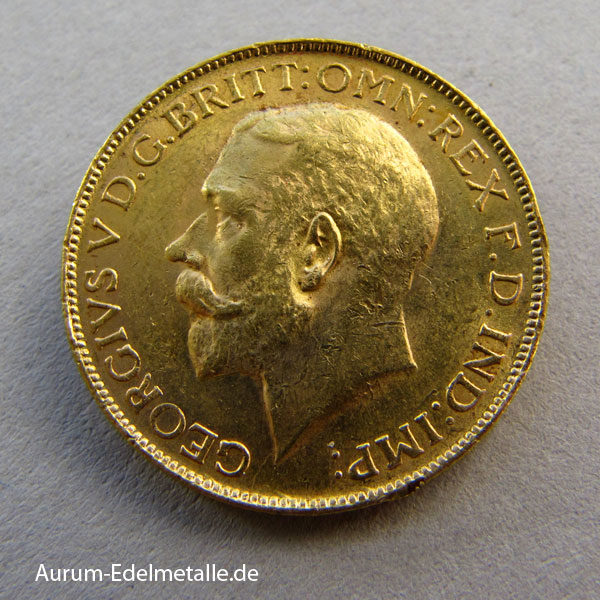 Süd Afrika One Pound Sovereign George V Gold 1923-1932