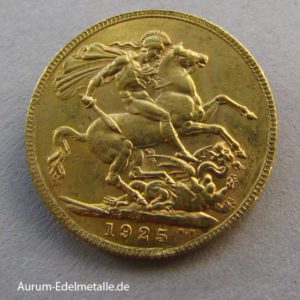 England One Pound Sovereign George V Gold 1923-1932 Südafrika