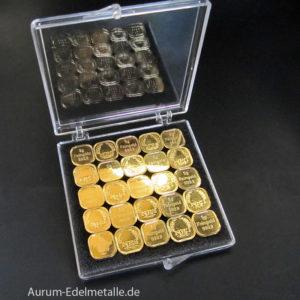 Tafelgold 125g Feingold 9999 in 5g Barren Norddeutsche ES
