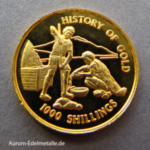 Tansania 1_25 Oz Goldschürfer 1000 Shillings 1998