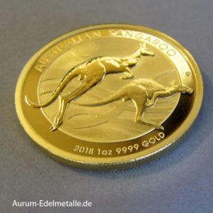 Australien 1 oz Kangaroo Nugget 100 Dollars Gold 2018