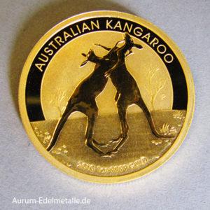 Australien Nugget Kangaroo 2010 Gold 1 Unze 100 Dollars
