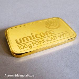 Goldbarren 100 g Feingold 9999 Diverse Hersteller