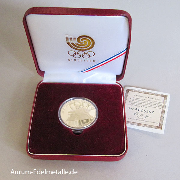 Korea 1 oz Gold Olympische Sommerspiele Seoul 1988