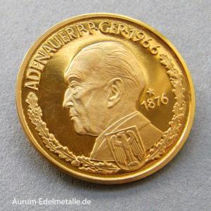 Aureus Magnus 1 Dukat 1958-1964 Adenauer 1961