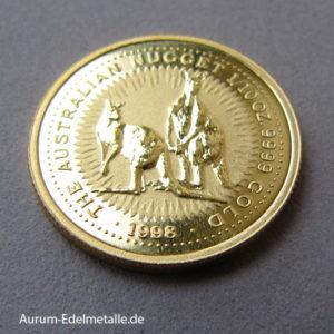 Australien Kangaroo Nugget 1_10 oz Goldmünze 1998