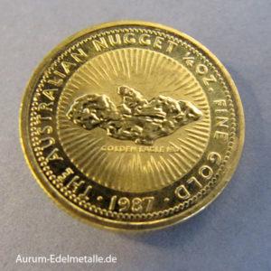 Australien Nugget 1_4 Unze Goldmünze 1987