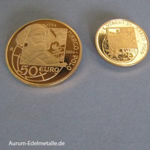 San Marino Gold 20 Euro 50 Euro Set 2004 Marco Polo 750 Jahre