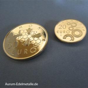 San Marino Gold 20 Euro 50 Euro Set 2007 Armonia