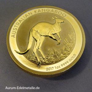 Australien 1 oz Kangaroo Nugget 100 Dollars Gold 2017