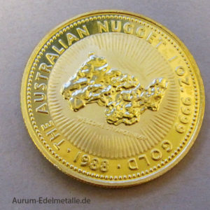 Australien Nugget 1 OZ Goldmünze 1988