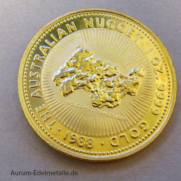 Australien Nugget 1 OZ Goldmünze 1988