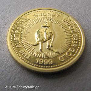 Australien Nugget Kangaroo 1_10 oz Gold 1999