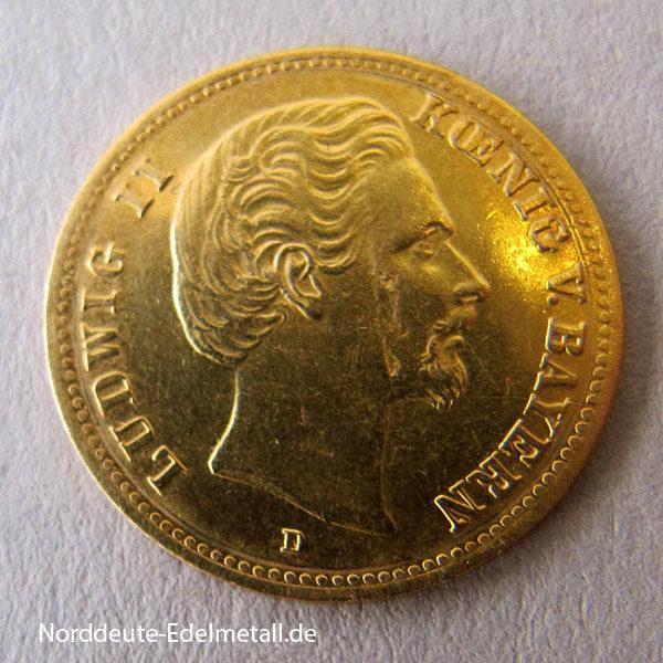 Deutsches Reich 5 Mark Gold Ludwig II Bayern 1877-1878