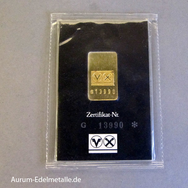 Goldbarren 10g DG Bank 9999 Feingold OVP